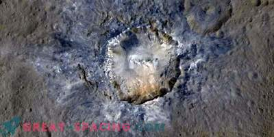 The openness in the craters may indicate subsurface ice