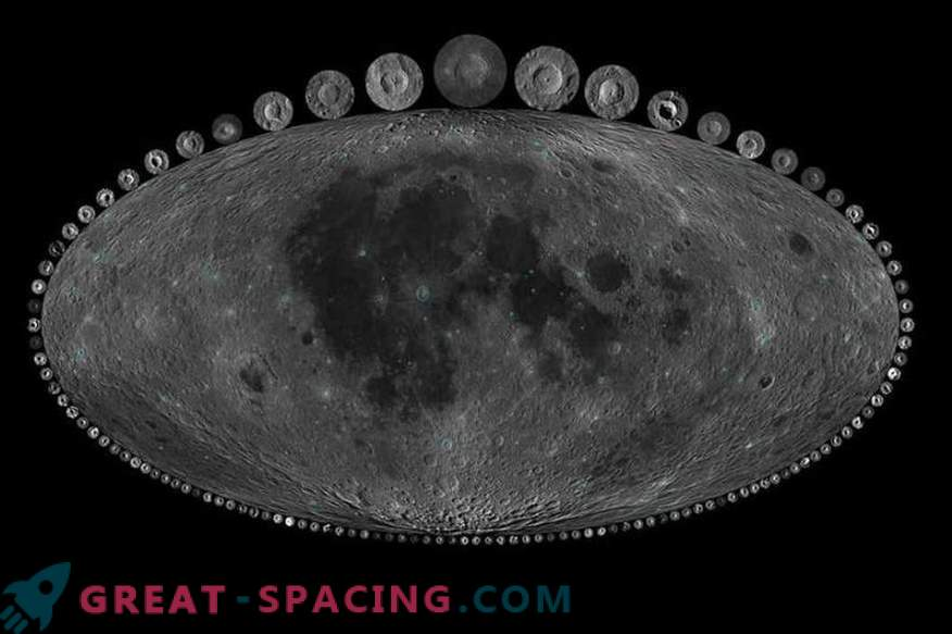 What can craters tell on the moon