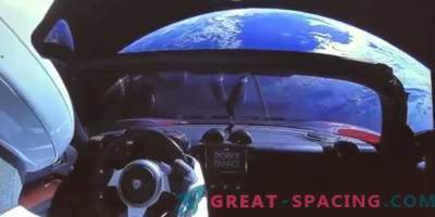 Amazing video from Tesla car launched into space