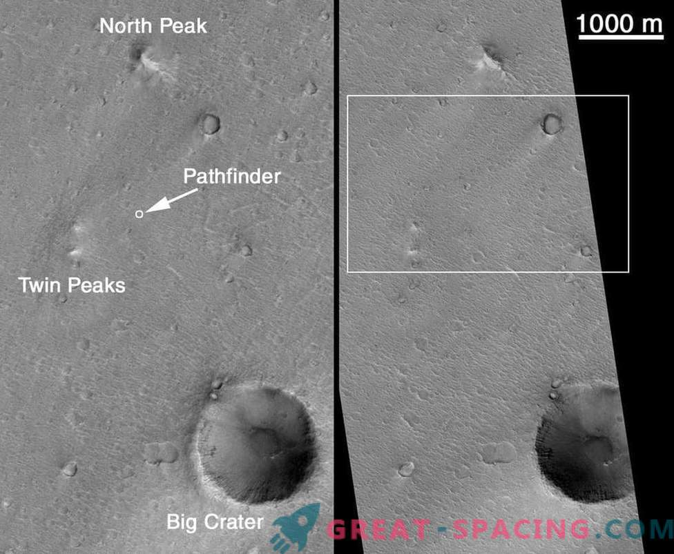 Times when a NASA satellite spied on Martian robots
