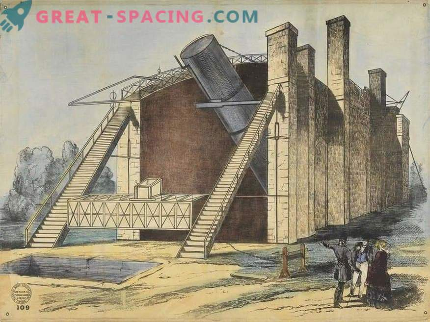 What did the largest telescope look like at the beginning of the 20th century? Leviathan