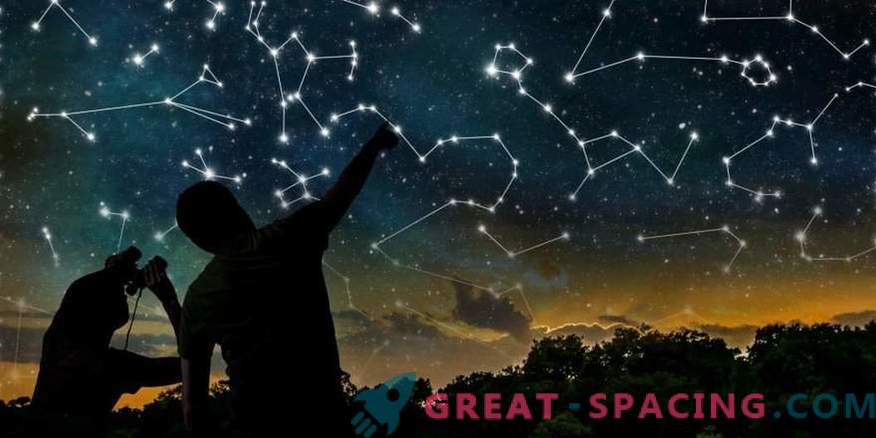 How did the constellations appear, and who gave them the names