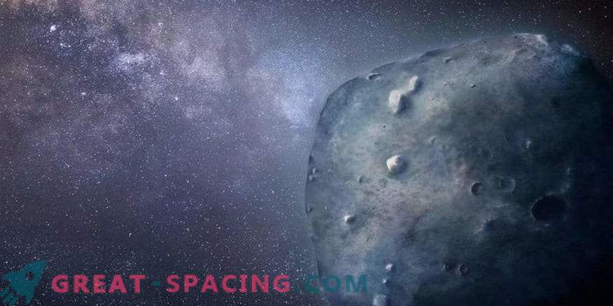 Mysterious behavior of a rare blue asteroid