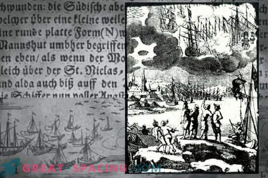 Incident in Bachfert - 1665. Fishermen describe the battle of flying ships