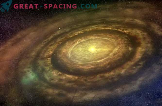 Strange spiral arms may hide emerging planets
