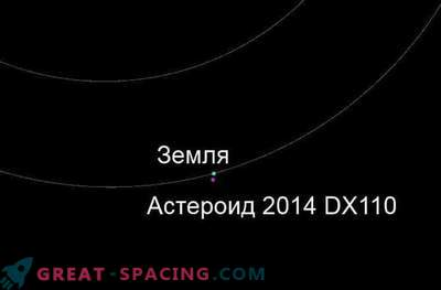 Asteroid 2014 DX110 flew near the Earth