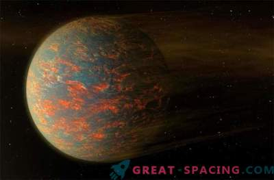 The two sides of the exoplanets are both solid and molten