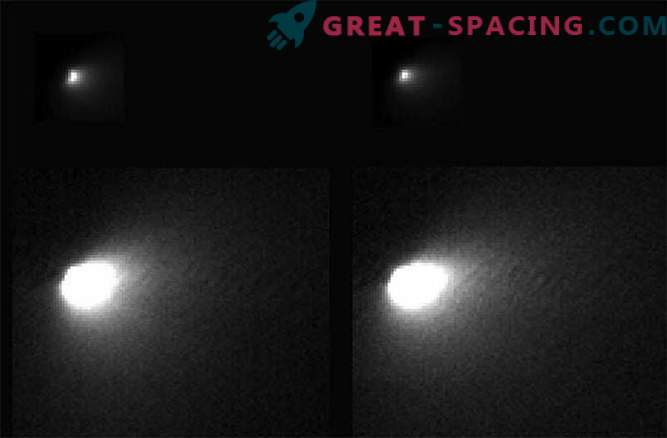 NASA spacecraft transmitted to Earth the first photos of comet Siding Spring