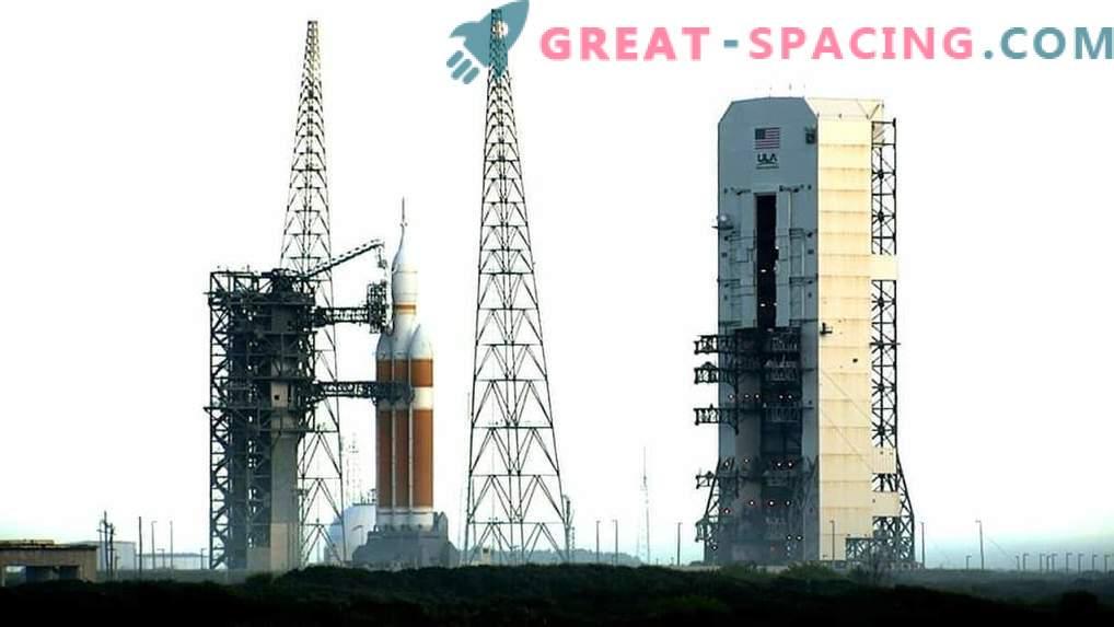 Orion's test flight was postponed until Friday