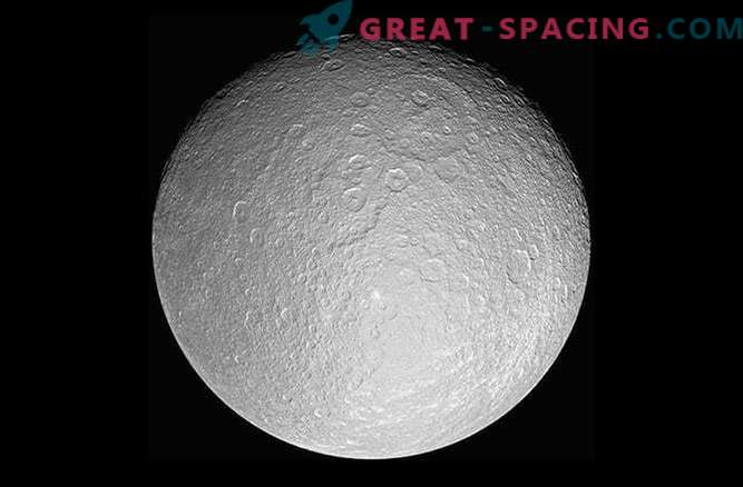 Why are erased craters on Saturn's moons?