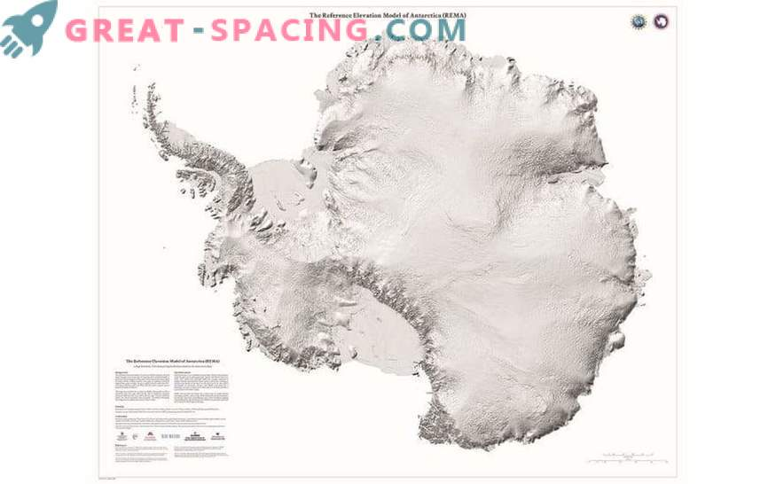 Stunning details of Antarctica in the new map with high resolution