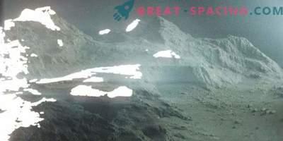 Amazing landscape of the comet