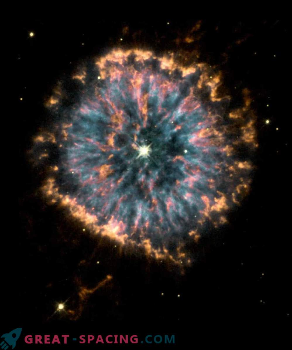 Supernova remnant with powerful heat radiation