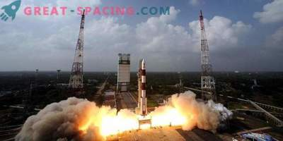 India launches a rocket with dozens of satellites
