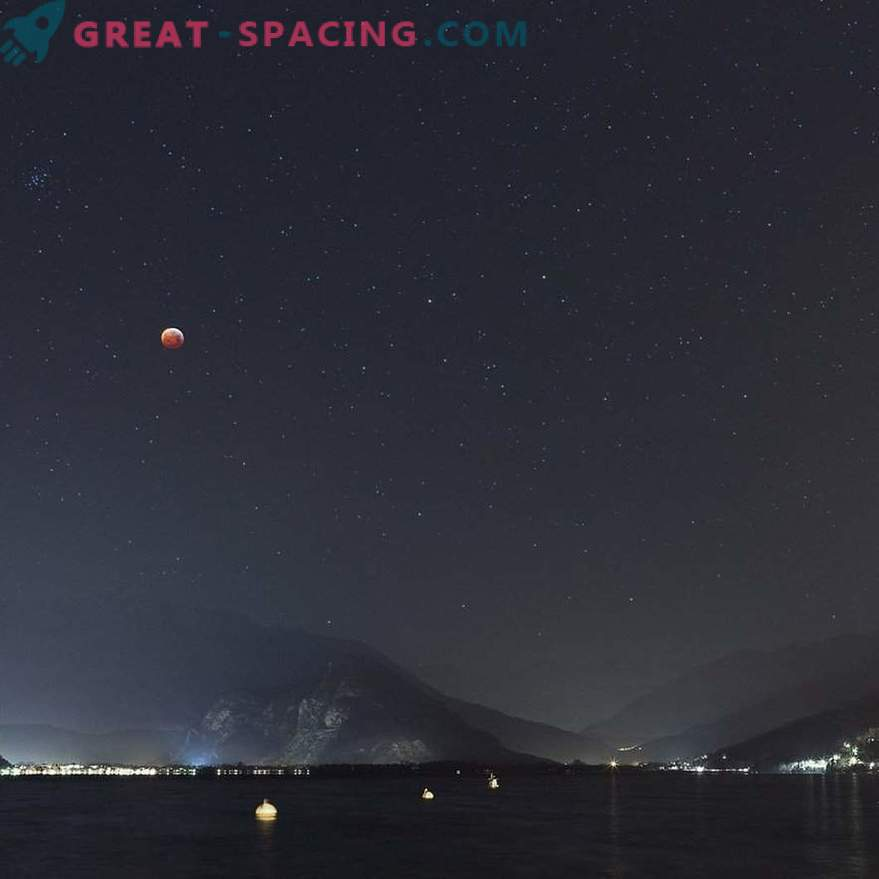 Lunar Eclipse over Lake Maggiore
