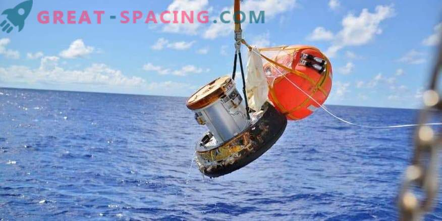 The prototype of the Japanese space capsule survived a fiery fall to Earth