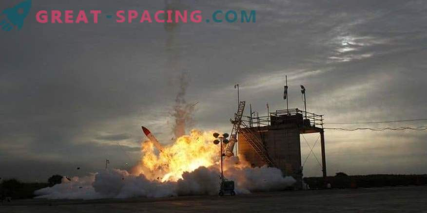 High-speed cameras recorded a failure to start MOMO-2