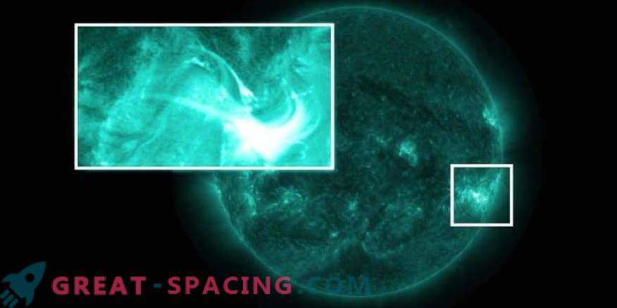 The reason for stopping the solar eruption