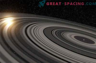 Giant ring system around exoplanets