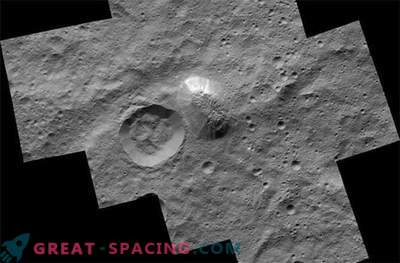 The mystical mountain surges up in a striking photograph of Ceres