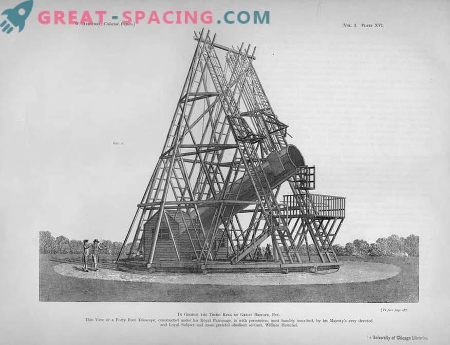 What William Herschel's giant telescope looked like