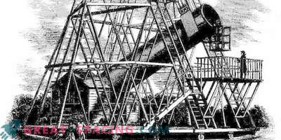 What William Herschel's giant telescope looked like