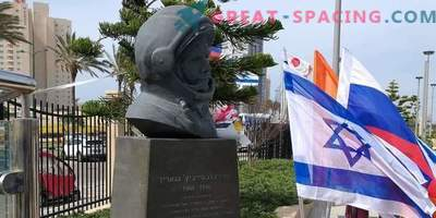 Monument to Yuri Gagarin erected in Israel