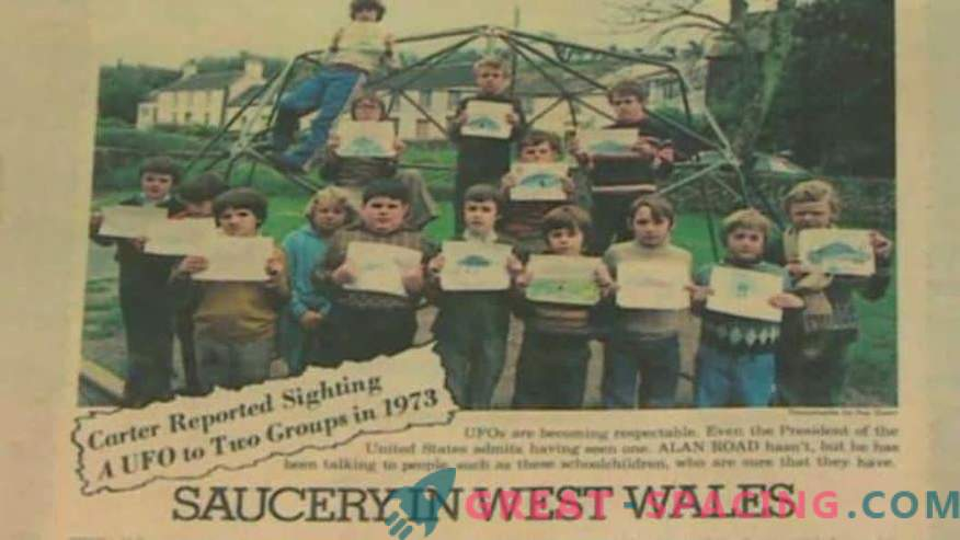 Incident in Wales - 1977. Schoolchildren are confident that they have seen an alien ship
