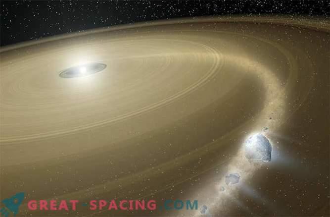 Comet rain falls on white dwarfs?