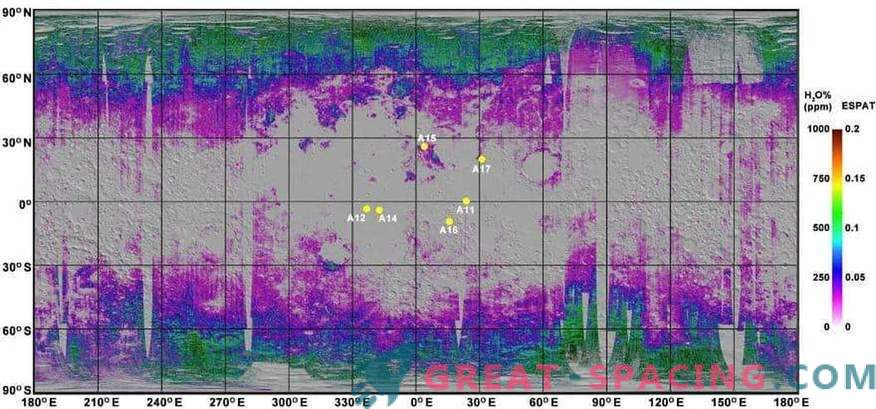 The first water map of the lunar soil