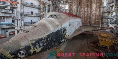 Scars of the Cold War! Admire the forgotten Soviet space shuttle