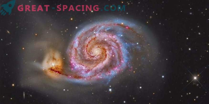 Galactic collision can shift the solar system