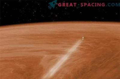 The spacecraft began to