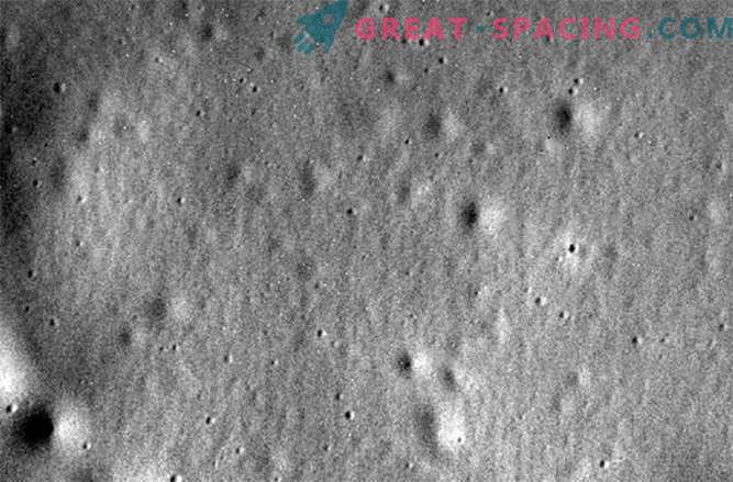 Messenger: the last photo before the crash on Mercury