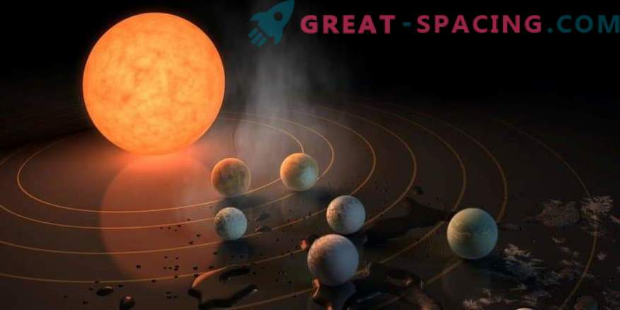 How did 7 planets form around TRAPPIST-1?