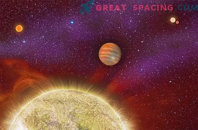 Massive exoplanet originated in the quadruple star system