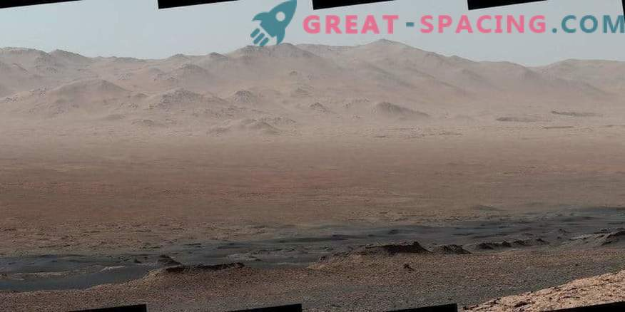 The perspective of the journey from the Martian rover