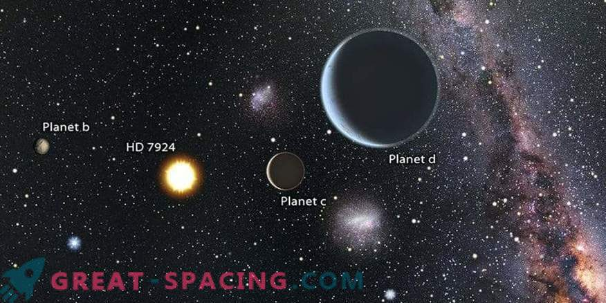 Star system with three super-lands