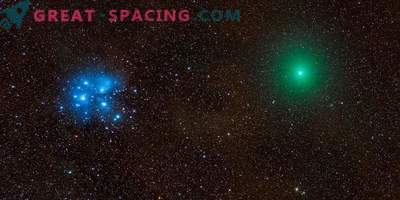 Comet, meteor, nebula and Pleiades in one epic photo
