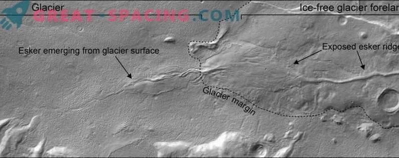 Mars found traces of recent water flows