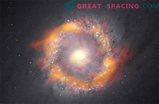 How to determine the weight of a black hole - a monster of a spiral galaxy?