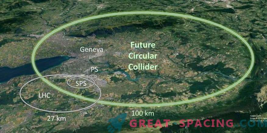 Larger than the Large Hadron Collider. What is conceived physics?