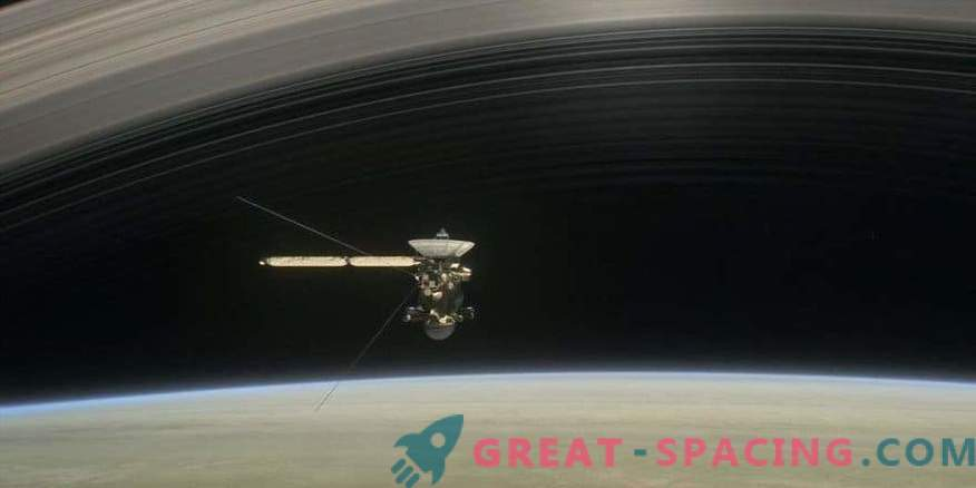 Cassini bathed in the
