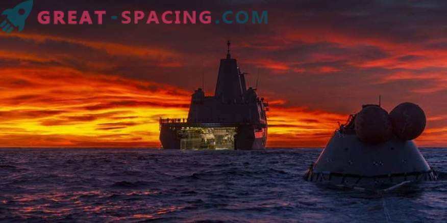 Orion Test Capsule in the Pacific