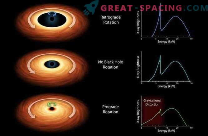 Investigation of a rotating black hole