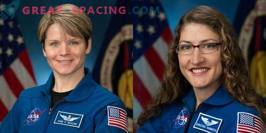 For the first time, two women will go into outer space