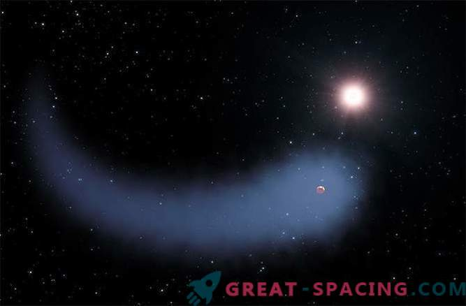 Scientists have discovered a hot planet with a giant comet tail