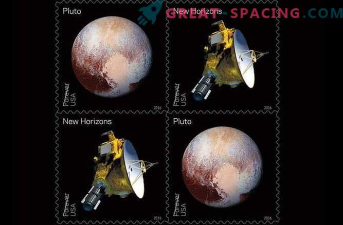 Pluto received new postage stamps