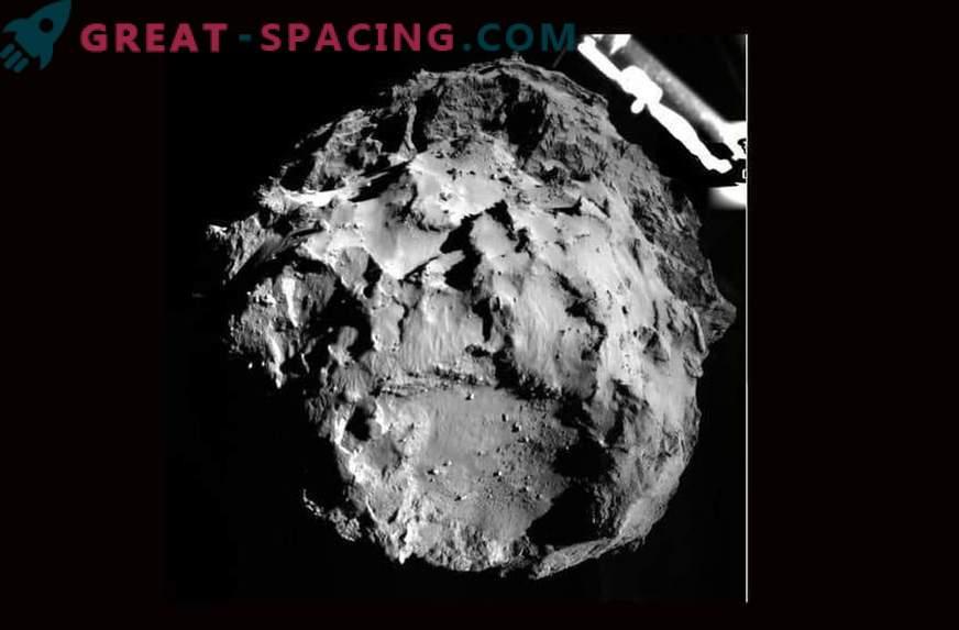 The rosette landing module landed on the comet Churyumov-Gerasimenko