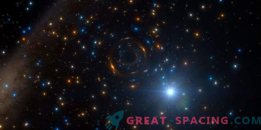 A black hole hides in a large-scale star cluster